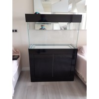110cm-50cm-70cm Akvaryum Mobilyalı Parlak Siyah Taçlı